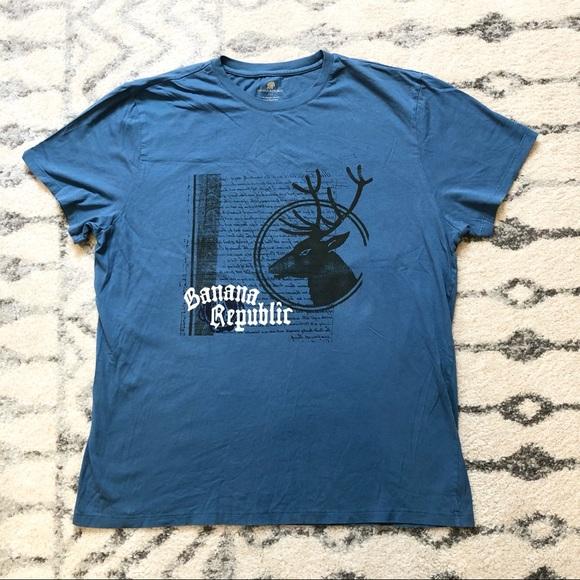 Banana Republic men's blue t-shirt, size x-large